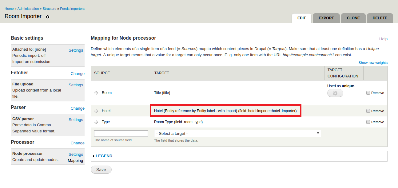 Create referenced entities through Feeds in Drupal